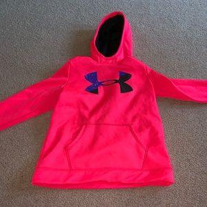 Under Armour Girls Pink Pullover Hoodie